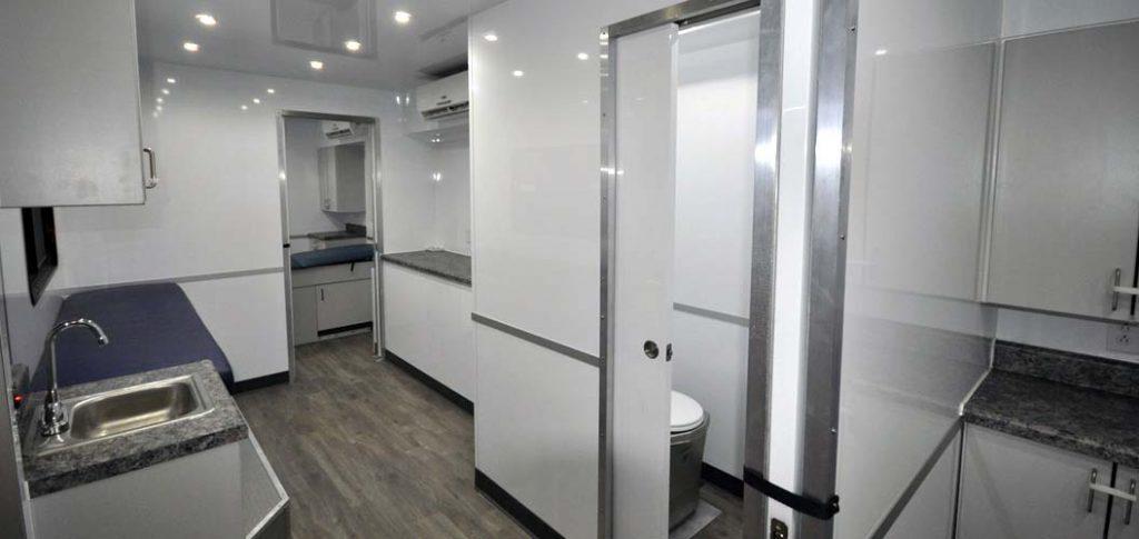 custom healthcare patented drop trailer