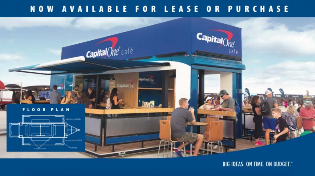 Capital One cafe drop trailer