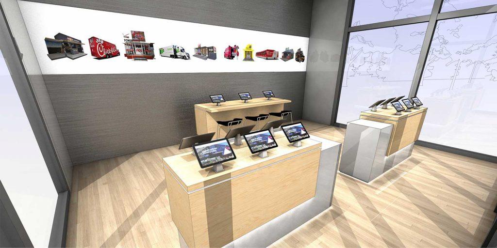 CGS Premier drop trailer interior