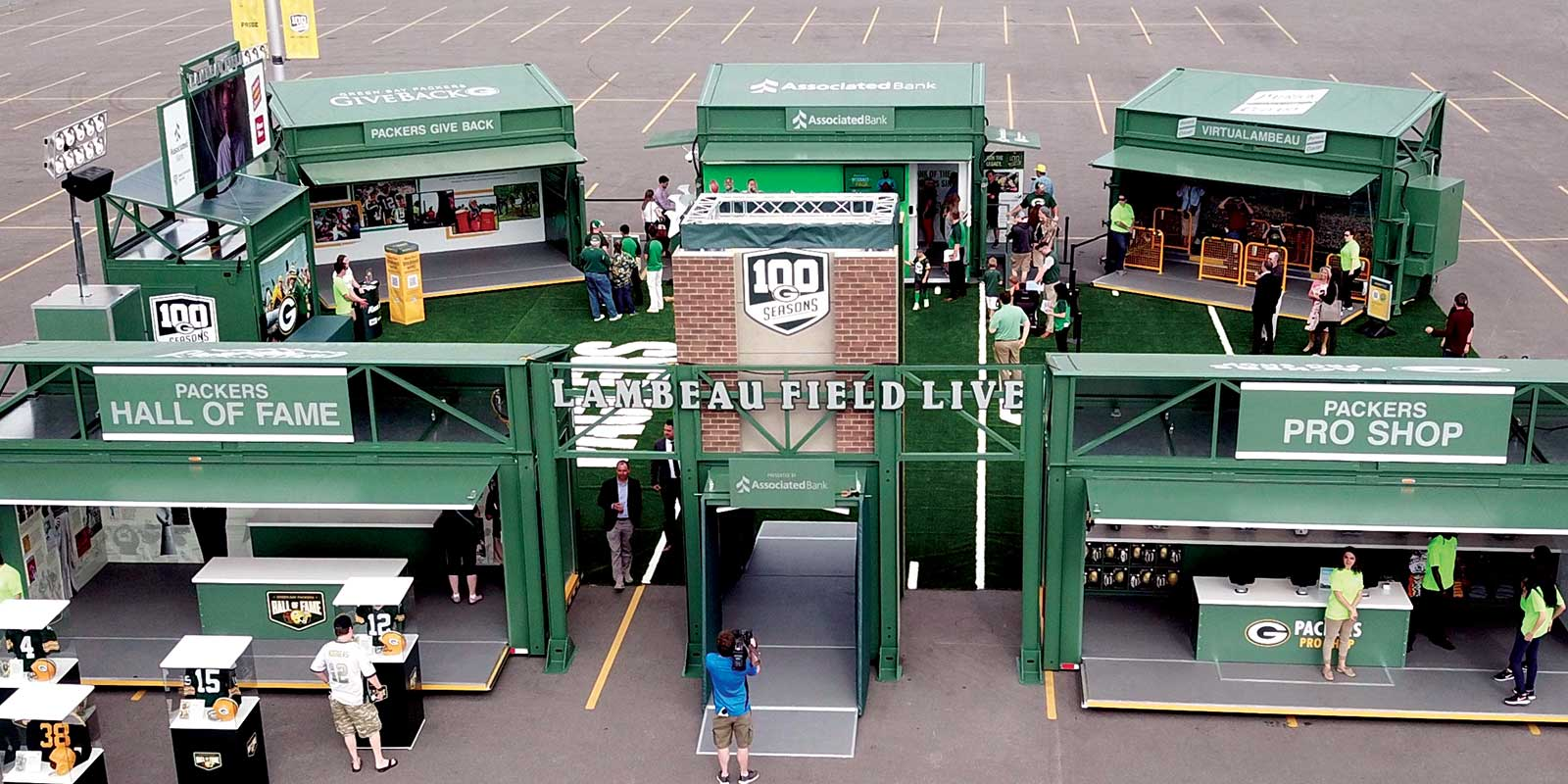 80' X 80' SCALABLE EVENT SITE / LAMBEAU FIELD LIVE