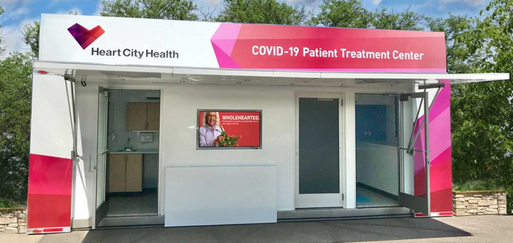 Custom-built COVID-19 patient treatment center